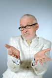 Portrait des älteren Geschäftsmannes Stockfoto
