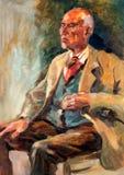 Portrait des älteren Mannes vektor abbildung