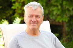 Portrait des älteren Mannes Stockfotografie