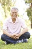 Portrait des älteren Mannes im Park Lizenzfreie Stockbilder