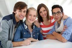 Portrait des étudiants dans la classe Image libre de droits