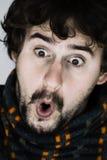 Portrait des überraschten jungen Mannes Lizenzfreie Stockfotografie
