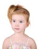 Portrait des überraschten kleinen Mädchens Stockfotografie