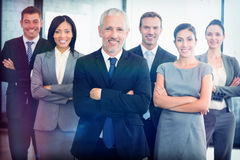 Portrait des überzeugten Geschäftsteams stockfotos