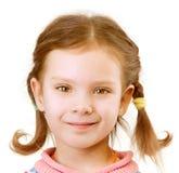 Portrait des Abschlusses des kleinen Mädchens oben Lizenzfreies Stockfoto