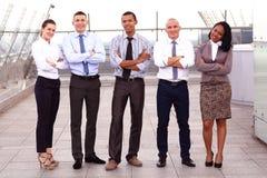 Portrait des affaires Team Outside Office Images stock