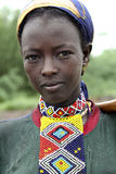 Portrait des afrikanischen Mädchens Stockbilder