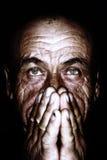 Portrait des alten Mannes Stockfotografie