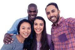 Portrait des amis multi-ethniques heureux Photo stock