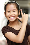 Portrait des asiatischen Mädchens stockfotografie