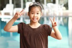 Portrait des asiatischen Mädchens lizenzfreie stockbilder