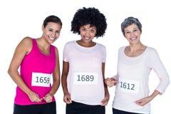 Portrait des athlètes féminins de sourire Photo libre de droits