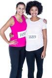Portrait des athlètes féminins heureux Photo stock