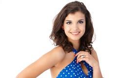 Portrait des attraktiven lächelnden Mädchens Lizenzfreies Stockfoto