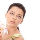 Portrait des attraktiven Mädchens ohne eine Verfassung stockfotos