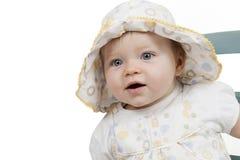 Portrait des Babys mit Hut stockfoto