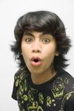 Portrait des überraschten emo Jugendlichen Lizenzfreie Stockbilder
