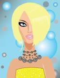 Portrait des blonden Mädchens stock abbildung