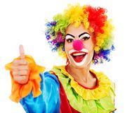Portrait des Clowns. Stockfotografie
