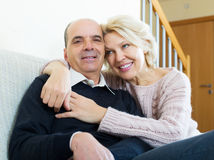 Portrait des conjoints supérieurs heureux Image libre de droits