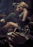 Portrait des couples allemands militaires sensuels Image stock