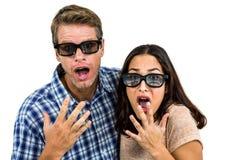 Portrait des couples choqués Image stock