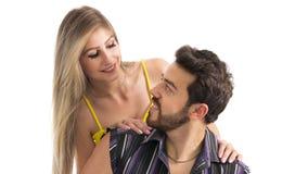 Portrait des couples dans l'amour Photographie stock libre de droits