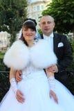 Portrait des couples de mariage Photos stock