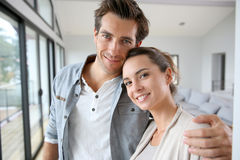 Portrait des couples de sourire Images libres de droits