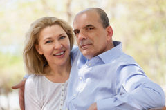 Portrait des couples mûrs de famille Photographie stock