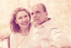Portrait des couples mûrs de famille Photos stock