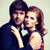 Portrait des couples sexy de charme dans l'amour Photos libres de droits