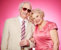 Portrait des couples supérieurs Photo stock