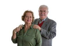 Portrait des couples supérieurs de sourire Photos stock