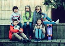 Portrait des enfants d'école primaire Photo libre de droits
