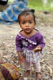 Portrait des enfants tribals dans un village Baidyapur, Inde Photographie stock
