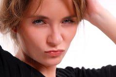 Portrait des ernsten Mädchens Lizenzfreie Stockfotografie
