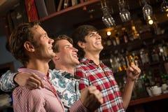 Portrait des fans dans la barre Photo libre de droits