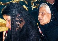 Portrait des femmes catholiques. Photo stock
