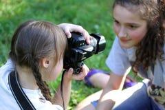 Portrait des filles photographie stock
