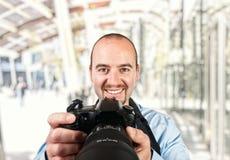 Portrait des Fotografen stockfotografie
