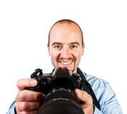 Portrait des Fotografen stockbild