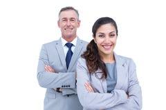 Portrait des gens d'affaires heureux se tenant ensemble Photo libre de droits