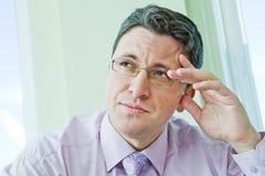 Portrait des Geschäftsmannes im Druck Stockfoto