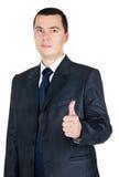 Portrait des Geschäftsmannes mit dem Daumen oben Lizenzfreie Stockfotografie