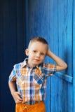 Portrait des glücklichen frohen schönen kleinen Jungen Lizenzfreie Stockfotos