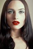 Portrait des gotischen Mädchens lizenzfreies stockbild