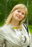 Portrait des green-eyed Mädchens Stockbilder
