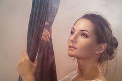 Portrait des gymnastes d'une fille Photographie stock libre de droits