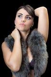 Portrait des hübschen Brunette lizenzfreies stockbild